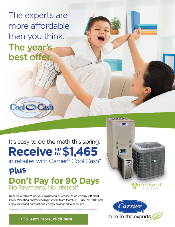 2015 Carrier Cool Cash Spring Constant Home Comfort