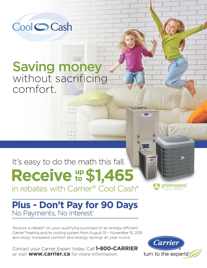 2015 CARRIER COOL CASH-FALL