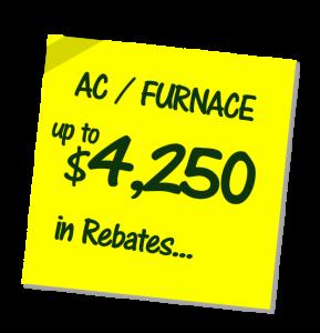 Hvac Rebates Furnace Amp Air Conditioning Installers