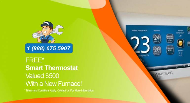 Free Smart Thermostat ($500 Value) With a New Furnace* – Limited Promotion