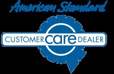 american standard customer care dealer logo
