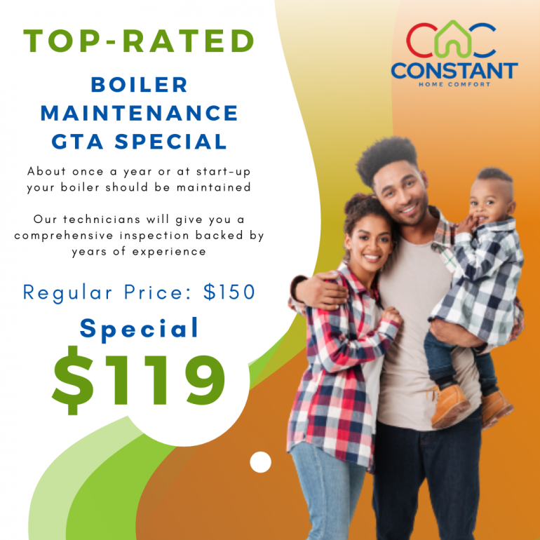 GTA Special! Get a Top-Rated Boiler Inspection Done for Just $119.